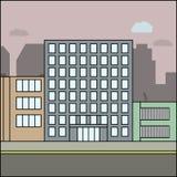 Ville d'affaires illustration de vecteur