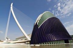 Ville d'agora des arts et des sciences Valence, Espagne Image stock