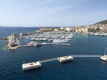 Ville d'Ajaccio du port Images libres de droits
