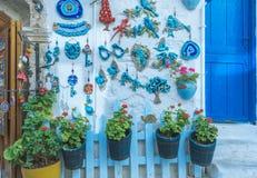 Ville d'Alacati, une destination populaire pour voyager et vacances photographie stock libre de droits