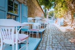 Ville d'Alacati, une destination populaire pour voyager et vacances image libre de droits
