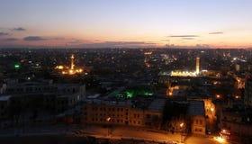 Ville d'Alep, Syrie, égalisant la vue de la citadelle Image stock