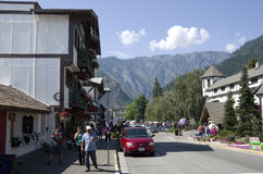 Ville d'Allemand de Leavenworth Photographie stock