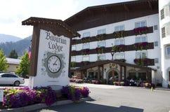 Ville d'Allemand de Leavenworth de loge de Barvarian Images libres de droits