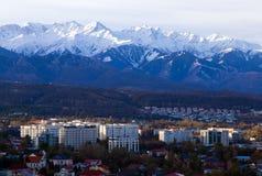 Ville d'Almaty pendant le matin photographie stock