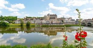 Ville d'Amboise et le Château d'Amboise Stock Photos