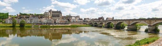Ville d'Amboise et le Château d'Amboise Stock Photo
