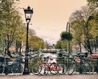 Ville d'Amsterdam en Hollande Image stock