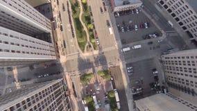 Ville d'antenne de Detroit banque de vidéos