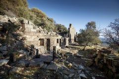 Ville d'antiquité d'Aigai photos libres de droits