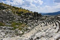 Ville d'antiquité de SAGALASSOS dans Burdur, Turquie photographie stock libre de droits