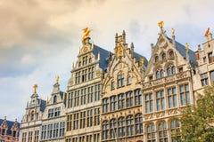 Ville d'Antwerpen de place de Grote Markt images stock