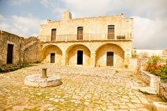 Ville d'Aptera, endroit antique en Crète, Grèce Photographie stock libre de droits