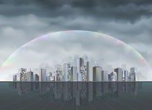 Ville d'arc-en-ciel illustration stock