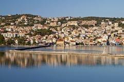 Ville d'Argostoli en Grèce photo stock