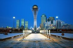 Ville d'Astana - le capital de Kazakhstan Photos libres de droits