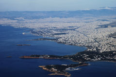 ville d'Athènes Images libres de droits