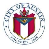 Ville d'Austin Seal On un fond blanc Photo stock