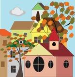 Ville d'automne illustration libre de droits
