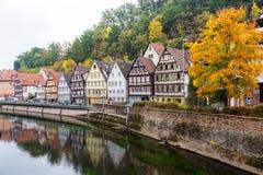 Ville d'Autumn Calw en Allemagne image stock
