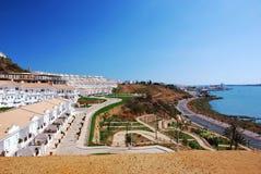 Ville d'Ayamonte d'horizontal en Espagne méridionale Image stock