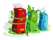 Ville d'Eco illustration libre de droits