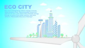 Ville d'Eco, future ville principale illustration libre de droits