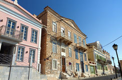 Ville d'Ermoupoli à l'île de Syros, Grèce image stock