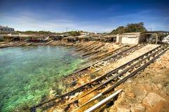 Ville d'es Calo à Formentera image libre de droits