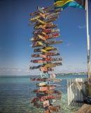 Ville d'espoir, Abaco, Bahamas Photo libre de droits