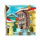 Ville d'hiver Photos stock