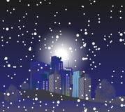Ville d'hiver illustration de vecteur