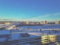 Ville d'hiver Photo stock