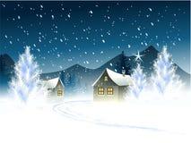 Ville d'hiver illustration stock