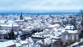 Ville d'hiver de Bamberg Photo stock