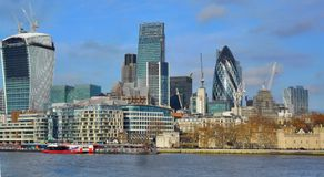 Ville d'horizon de Londres Images stock