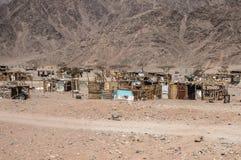 Ville d'hutte en Egypte images stock