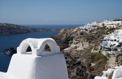Ville d'Ia, Santorini, Grèce Images libres de droits