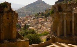 Ville d'Italien de Taormina Image libre de droits