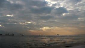 Ville d'Izmir, laps de temps, vue, mer, nuages, dinde banque de vidéos