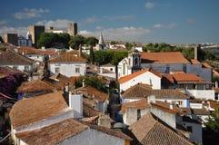 Ville d'Obidos au Portugal Photo stock