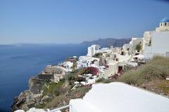 Ville d'Oia sur Santorini Images stock
