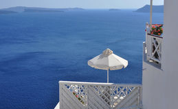 Ville d'Oia sur Santorini près de vulcano, Grèce Image libre de droits