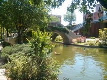 Ville d'Oklahoma de canal de Bricktown Images stock