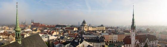 Ville d'Olomouc en novembre, République Tchèque Photographie stock
