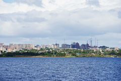 Ville d'Ordaz de port Image stock