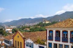 Ville d'Ouro Preto et sao Francisco de Paula Church - Ouro Preto, Minas Gerais, Brésil Photos libres de droits