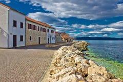 Ville dalmatienne de bord de mer de Bibinje Photographie stock