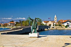 Ville dalmatienne de l'entrée de Nin Images libres de droits
