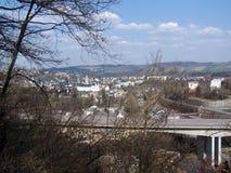 Ville dans Erzgebirge en Allemagne photos stock
